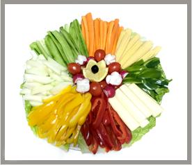 מגש בריאות - מגש ירקות חתוכים