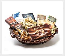 סלסלת שוקולדים גדולה